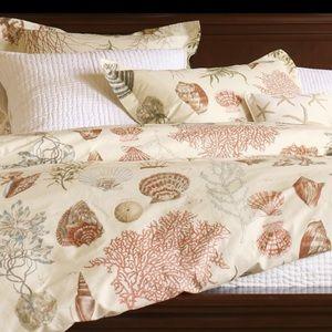 Pottery Barn Seashell Duvet Cover